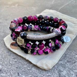 Fire Agate Natural Stone Bracelet